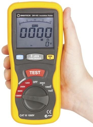 Cat Iii Multimeter : Cat iii insulation tester multimeter digitech