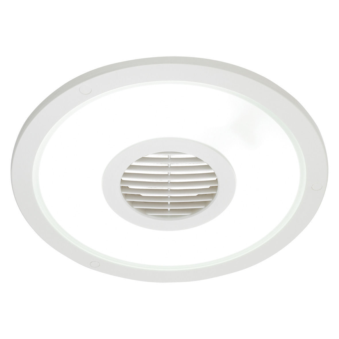 Heller White Round 250mm Ceiling Light Exhaust Fan Air Flow Bathroom Laundry Ebay