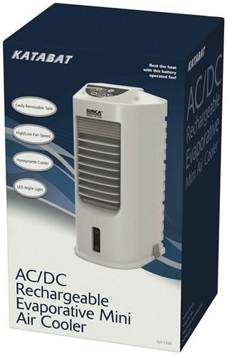Small Evaporative Cooler : Portable rechargeable mini evaporative cooler fan suits