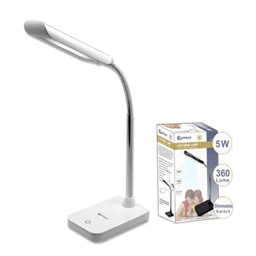 new 5w led flexible arm desk table dimmable lamp. Black Bedroom Furniture Sets. Home Design Ideas