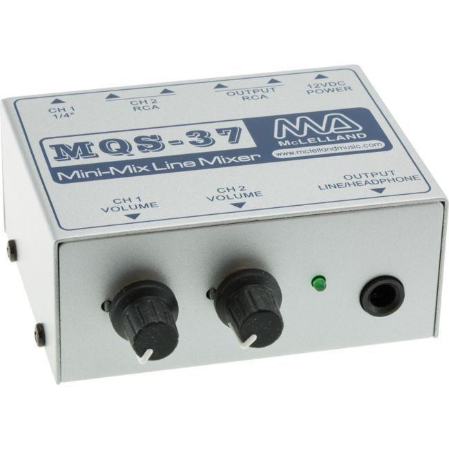 mclelland 2 channel line level mini mixer with volume control mclelland. Black Bedroom Furniture Sets. Home Design Ideas