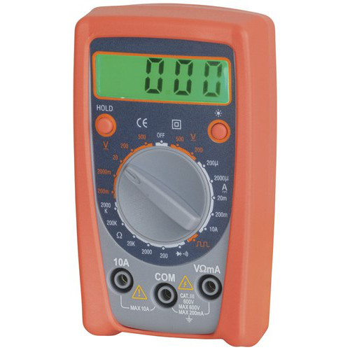 economy catiii multimeter with data hold overload