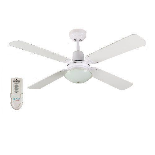 FIAS Ramo 48 Inch Ceiling Fan With Light Amp Remote White