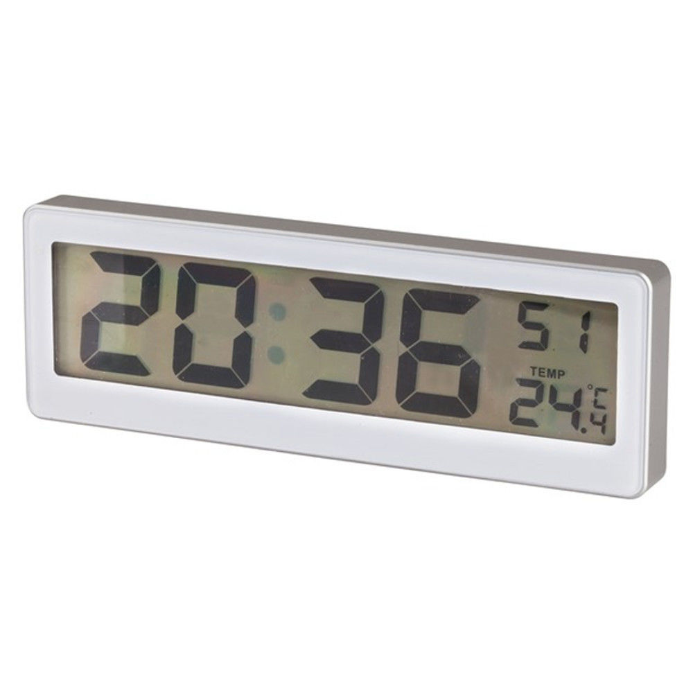Lcd Clock With Thermometer Desk Or Wall Mount Xc0230