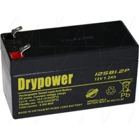 Drypower 12V 1.2Ah Sealed Lead Acid Battery 12SB1.2P