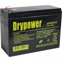 Drypower 12V 10Ah Sealed Lead Acid Battery