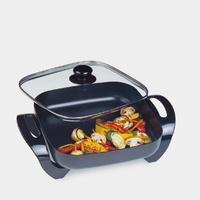 Maxim Family Electric Square Frypan Multi Setting Temperature