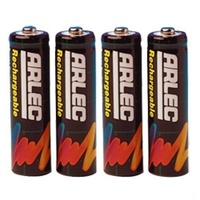 ARLEC Rechargeable Nicad AA Size Batteries 4Pack