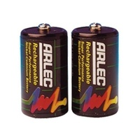 Arlec Rechargeable Nicad C Size Batteries 2 pack 1800mAH