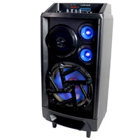 Lenoxx 160W Music speaker System with Mic built in amplifier rechargable battery and remote