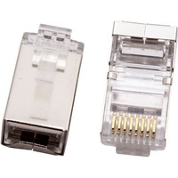 CABAC CAT6 Modular RJ Plug - Shielded 50PACK High quality pins with 50Ám gold plating