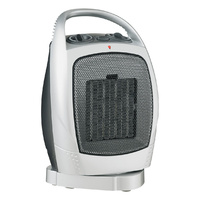 Heller 750W & 1500W Upright Oscillating Ceramic Heater Fan with Thermostat and carry handle