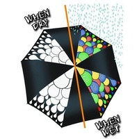 Hydrochromatic umbrella changes colour when wet stylish monochrome design