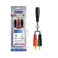 3.5mm Stereo Socket to 2RCA Plugs Audio cable 1.5m
