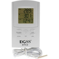 Digital Dual Thermometer Indoor & Outdoor Temperature With Clock
