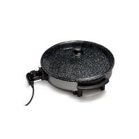 Lenoxx Stone Choice 1500Watts Large Stoneware Electric Frying Pan with tempered Glass Lid New