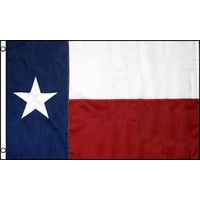 Texas Embroided Nylon Flag 4x6ft