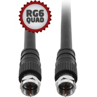 RG6QUAD 'F type to F type FLYLEAD for TV Antenna 10m