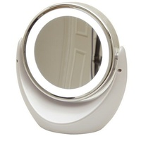 LED LIGHT Rimmed Frame Dual Sided Magnifying Mirror