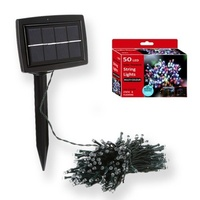 Outdoor Solar powered Bright LED Multi Color String 10M 50 lights Auto on