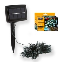 Outdoor Solar powered Bright LED White Color String light 50lights Auto on 10m