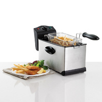 Heller 3L Stainless Steel Deep Fryer Cool Touch Handles