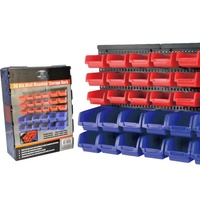 30 Bin Wall Mounted Storage Rack  Great For The Handyman Nuts & Bolts Organizer Garage Shed NEW