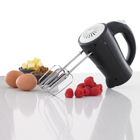 200W Hand Mixer 5 Speed Control Included Beaters & dough hooks Black