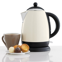 HELLER 1.7L Cordless Jug Kettle Cream