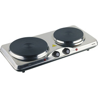 Maxim Cooktop Portable Double Dual Hotplate Stainless finish