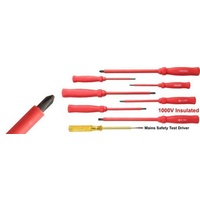 Insulated Screwdriver Kit 1,000 V Contains 4 blade type & 3 Phillips type drivers