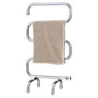 Heller 70W Chrome Freestanding Heated Towel Rail Designed to run 24Hr