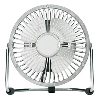 Heller 10cm High Velocity Desk Fan Chrome Silver