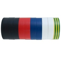 CABAC Electrical Insulation Tape RAINBOW Bulk Pack 10Rolls