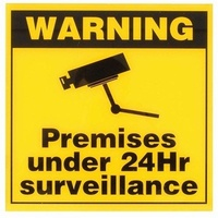 24Hr Surveillance Warning Sign 300 x 300mm
