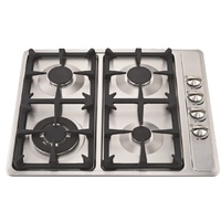 Lectroni Gas Cooktop Burner Stainless Steel 60cm Castiron Trivet LPG Gas Hob New