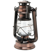 12 LED Hurricane Lantern Vintage Suits For Home Patio Camping Available In Retro Silver And Authentic Copper NEW