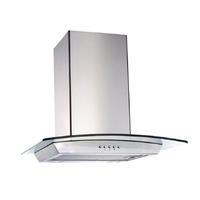 Lectroni Rangehood Stainless & Steel Curved Glass 60cm Canopy Hood New Kitchen