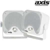 AXIS 50Watt 100x100mm 2Way Box Speakers with Mounting Brackets