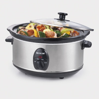 Maxim Slow Cooker 3.5L Cooks upto 12 hours on lowest setting
