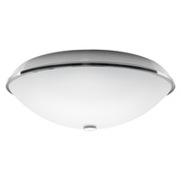 Brushed S/Steel Oyster Light Kit suits most Heller ceiling fans