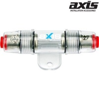 AXIS 1-Way Inline AGU Fuse Holder PB1/1 Accepts 4 or 8GA In/Out Nickel Plated Series PB1-1