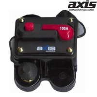 AXIS 100 AMP IN-LINE Circuit Breaker Manual Reset Accepts 2 Ring Terminals High Quality Circuit