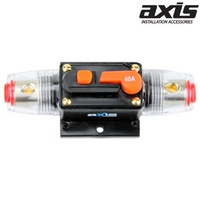AXIS 40Amp In-Line Circuit Breaker Reset Switch 4 or 8 GA Cable Input/Output High Quality