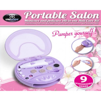 Portable Salon All In One  Nail Care Kit Integrated Nil Dryer Blows Cool Air NEW