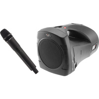PORTABLE Rechargeable Sound System with Wireless UHF Mic MP3 playback via SD USB