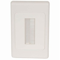 Brush Cable Entry Wall Plate