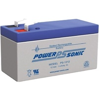 Powersonic PS1212 12V 1.4AMP SLA Battery F1 Terminal Sealed Lead Acid