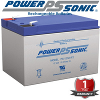 Powersonic PS12120 12V 12 AMP SLA Battery F2 Terminal Sealed Lead Acid