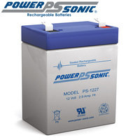 Powersonic PS1227 12V 2.9AMP SLA Rechargeable Battery F1 Terminal Sealed Lead Acid